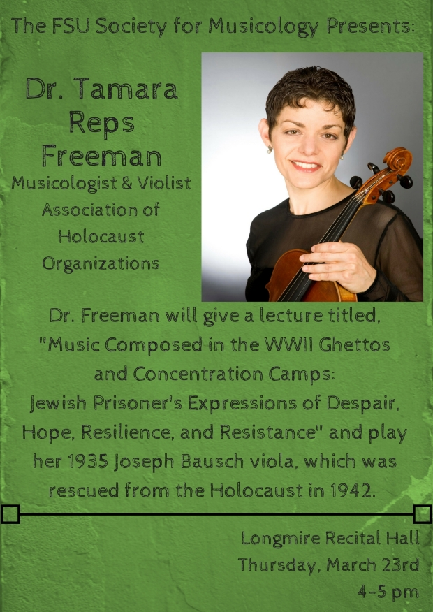 Dr. Tamara R. FreemanMusicologist, Association of Holocaust OrganizationsHolocaust Music Educator & Recitalist